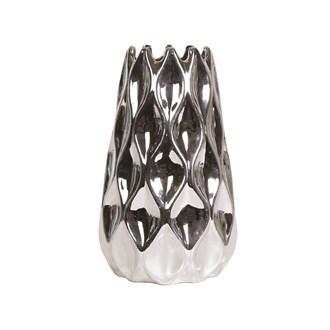 Silver Teardrop Vase 25cm