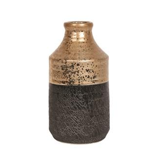 Gold Black Urn Vase 33cm