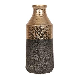 Gold Black Urn Vase 23.5cm