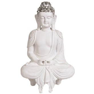 White Shelf Buddha 40.5cm