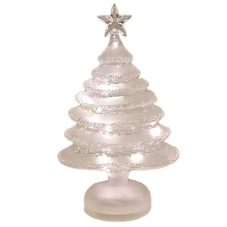 LED Glass Deco Tree 26.5cm