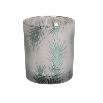 Frosted Tree Tealight Holder 10cm