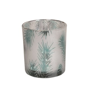 Frosted Tree Tealight Holder 8cm