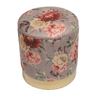 Floral Storage Pouffe 37cm