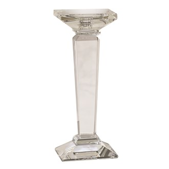 Sq Base Pillar Cnd Hld 9x29cm