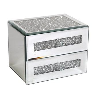 2 Drawer Jewellery Box 12cm