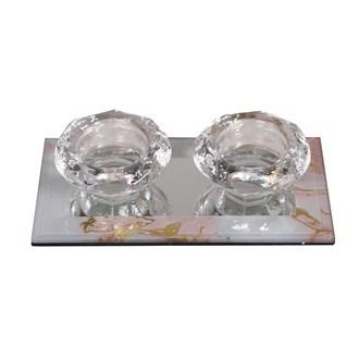 Double Tealight Holder17x9cm