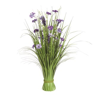 Grass Floral Bundle Purple Wild Flower 70cm