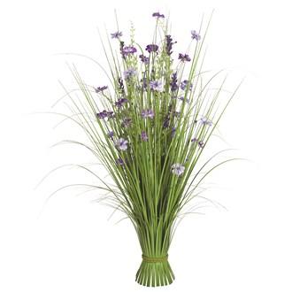 Grass Floral Bundle Purple Wild Flower 100cm