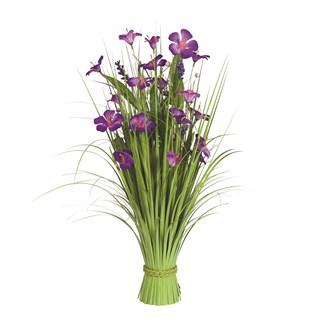 Grass Floral Bundle Purple Amaryllis 70cm