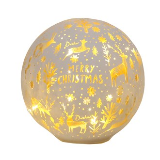 LED Xmas Ball White 14.5cm