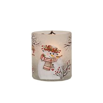 Snowman Tealight Holder 7cm