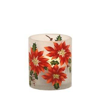Poinsettia Tealight Holder 7cm