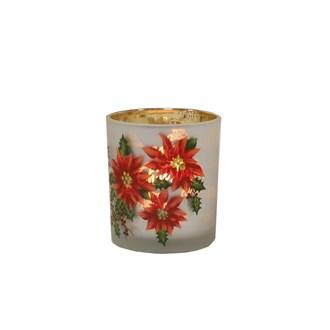 Poinsettia Tealight Holder 8cm