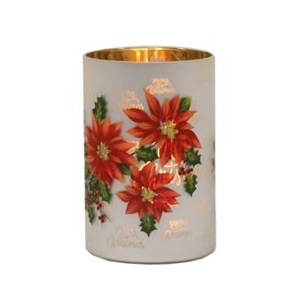 Poinsettia Candle Holder 12cm