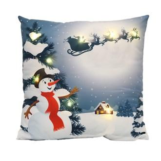 LED Snowman Cushion 45x45