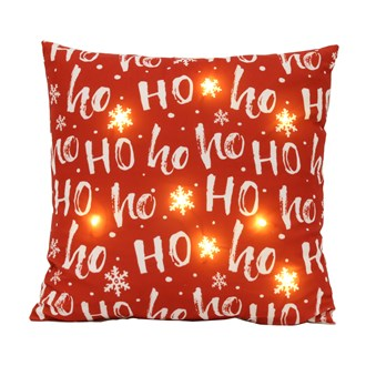 LED Ho Ho Ho Cushion 45cm