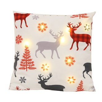 LED Reindeer Silhouette Cushion 45cm x 45cm