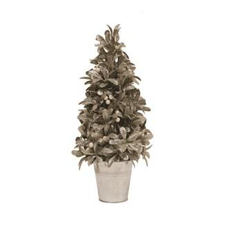Leaf & Berry Tree in Pot Silver 41cm