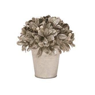 Leaf & Berry Arrangement in Pot Silver 18cm