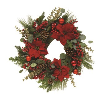 Floral Wreath Red 70cm