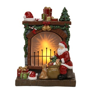 LED Christmas Fireplace 27cm