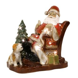 LED Ceramic Santa Sleigh 29cm