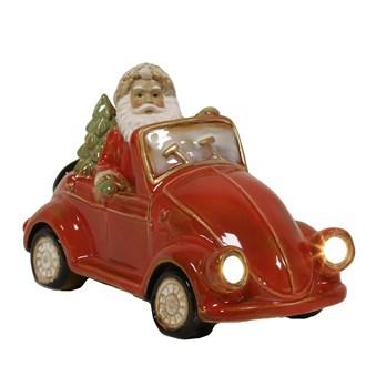 LED Santa in Car 30.5cm