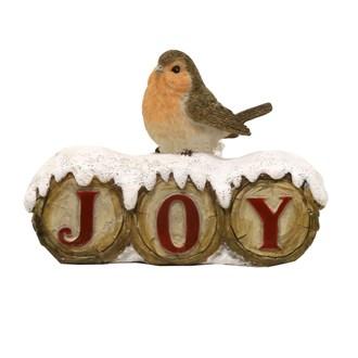 Christmas Robin Joy Decoration 12.5cm