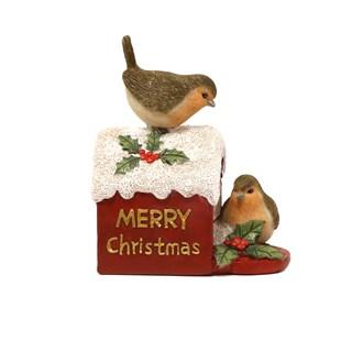 LED Christmas Robins Mail Box Decoration 11.5cm