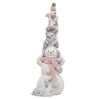 Snowman and Friends Figurine 26.5cm