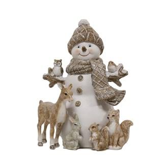 Snowman and Friends Figurine 16.5cm