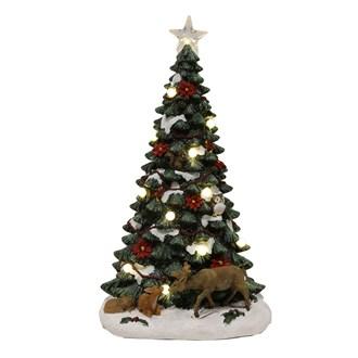 LED Christmas Tree with Woodland Animals 48.5cm