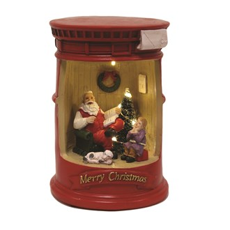 LED Post Box Santa 20cm