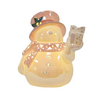 LED Light Up Snowman 22cm