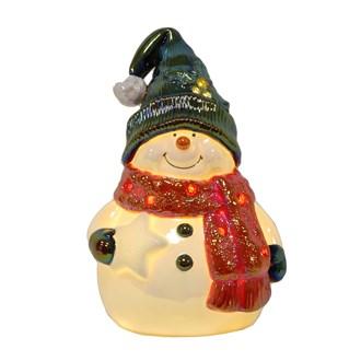 LED Light Up Snowman 21.5cm
