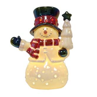 LED Light Up Snowman 23.5cm