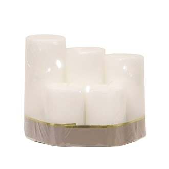 Set5 Pillar Candles 6cm dia