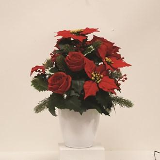 Poinsettia Bouquet Red 39cm