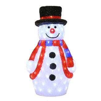 LED Acrylic Snowman 60cm (130 Lights)