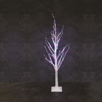 LED Multi Coloured Lights Birch Tree 4ft 300L