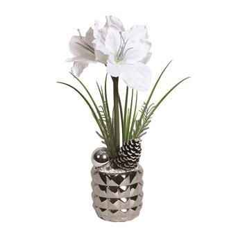 Amaryllis Deco Pot 53cm White