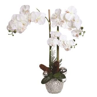 Deco Orchid In Pot 62cm White