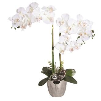 Decorative White Orchid In Pot 63.5cm