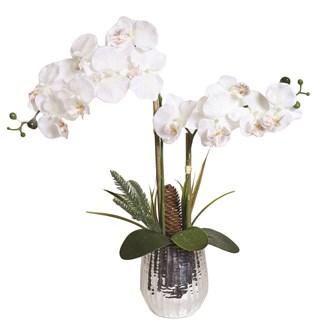 Decorative White Orchid In Pot 51cm