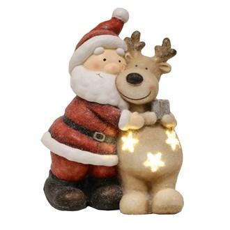 LED Santa Reindeer 41cm