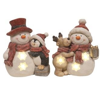 LED Snowman 2 Assorted 32cm
