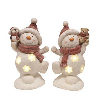 LED Snowman 2 Assorted 44.5cm