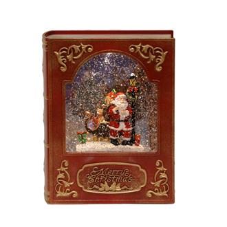 LED Santa Spinner Story Book