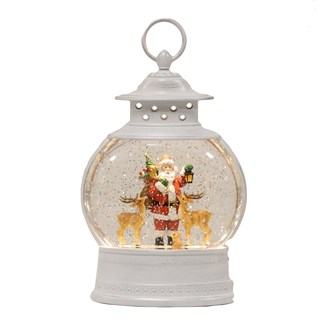 Santa Globe Spinner 18x29cm